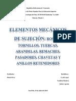 Elementos Mecánicos de Sujeción 1; Diseño