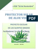 Proyecto Protector Solar de Aloe Vera