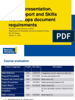 Poster Presentation, Final Report and Skills Workshops Document Requirements
