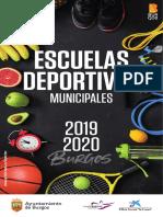 Programa Escuelas Deportivas 2019 20