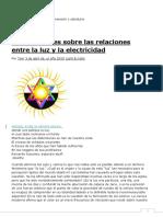 Las Relaciones Entre La Luz y La Electricidad