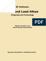 Preview of Lead and Lead Alloys Properties and Technology