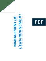 cours management de l'environnement