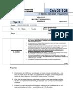 Examen Final Matemática Financiera I (UAP)
