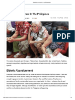 Elderly Abandonment in the Philippines