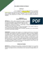 Modelo Reglamento Interno de Trabajo Eds