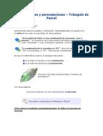 Combinaciones y Permutaciones y triangulo de Pascal