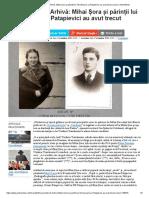 Documente de Arhivă_ Mihai Șora Și Părinții Lui Tismăneanu Și Patapievici Au Avut Trecut Comun _ ActiveNews