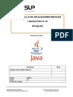 Lab 06 - Desarrollo de Aplicaciones Móviles - ArrayList-2019-2.docx