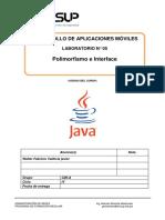 Lab 05 - Desarrollo de Aplicaciones Móviles - Polimorfismo e Interface-2019-2 (1).docx