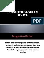 PPT Beton