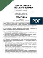 Estatutos INAC
