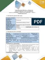 Guía - Fase 3 - Problematización