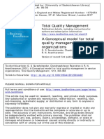 Sureshchandar, G. S., Rajendran, C. & Anantharaman, R. N. (2001). a Conceptual Model for TQM in Service Organizations. Total Quality Management. 12(3). 343-363