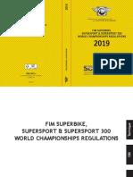 Provisional 2019 SBK SS SS300 Regulations