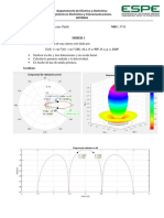 Graficas en 2 y 3 dimensiones del patron de radiacion en Antenas