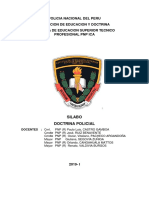 Policia Nacional Del Peru Doctrina Integridad 2019