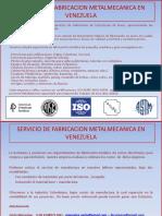 Fabricacion Metalmecanica en Venezuel
