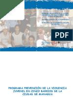 Programa de prevencion de violencia juvenil en Managua
