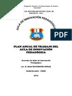 Plan Anual de Aula de Innov. Para Imp