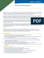 Publicacion Oferta de Trabajo - Planificador de Manten
