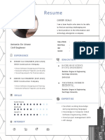 Civil Engineer Resume Template Copy