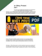 Como Tomar Whey Protein Corretamente