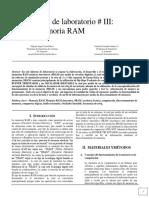 Laboratorio Memoria RAM