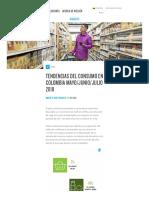 Tendencias Del Consumo en Colombia - Mayo_Junio_Julio 2018