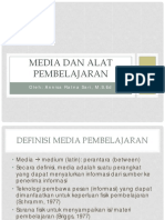 media dan alat pembelajaran