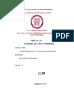 Analisis Quimico Proximal- Practica 1
