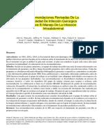 Las Directrices Revisadas de La Sociedad de Infección Quirúrgica Sobre El Manejo de La Infección Intraabdo (1)