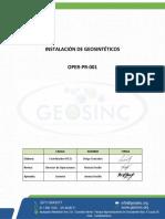 OPER-PR-001 Instalacion de Geosinteticos