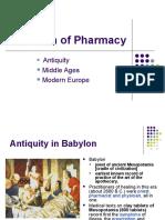 Evolution of Pharmacy