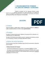 Actividad 1 Reconocimiento de Terminos Utilizados en El Area de Compras y Almacenes