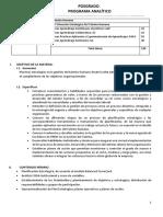 Programa Analítico-Maestría en Gestión de Talento Humano-cohorte 2018-I-P2 Planificacion Estrategica