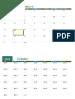 2019 calendario académico