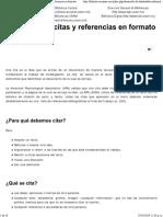Citas y referencias en APA