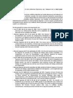 Etapa Del Surgimiento Del Derecho Procesal Del Trabajo en El Perú