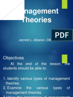 Chapter 1 Lesson 2 Management Theories