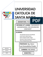 Movimiento unidimensional física