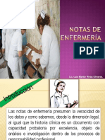 NOTAS DE ENFERMERIA