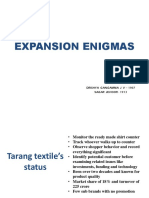 Expansion Enigmas