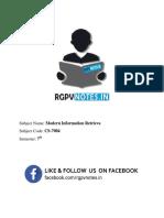 Unit 5 - Modern Information Retrieval - Www.rgpvnotes.in
