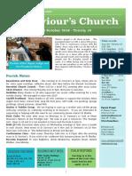 st saviours newsletter - 20 oct 2019 -ot 29