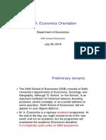 MA Economics Orientation Handout