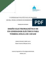 Diseño Electromagnético de Un Generador Electrico Para Turbina Eolica de 100 KW
