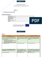 Self-evaluation and Development Plan Document