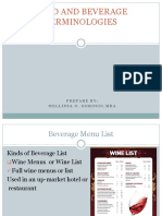 Beverage Information