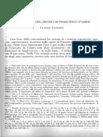 Leonardi C., L'Esperienza Del Divino in Francesco d'Assisi